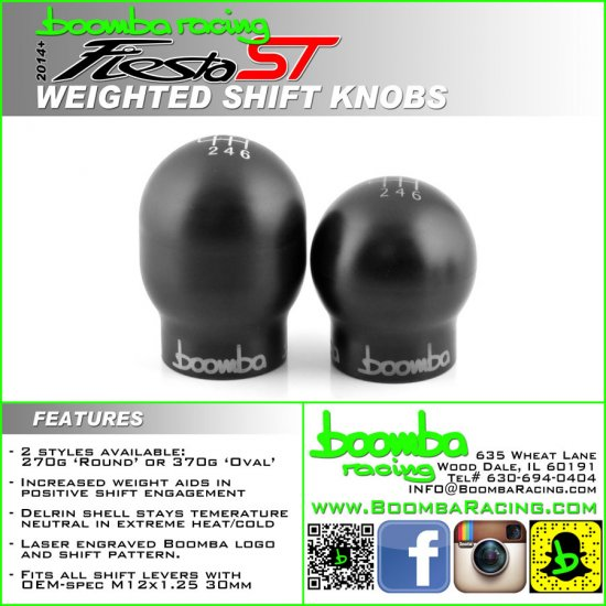 BoombaRacing Engravd ROUND 270 Weighted Shift Knob