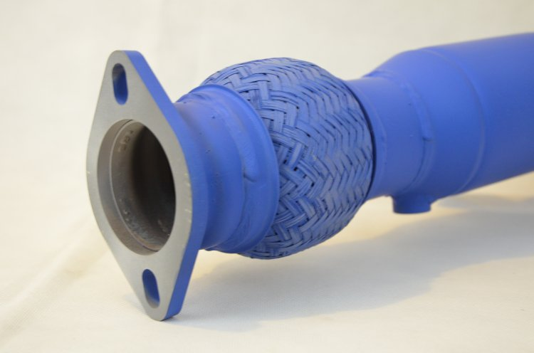 Raptor Racing Fiesta ST Ford Blue Ceramic Coated Catted Downpipe - Click Image to Close