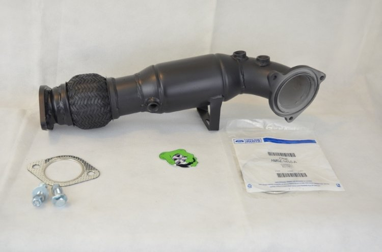 Raptor Racing Fiesta ST Midnight Black Ceramic Coated Catted Downpipe - Click Image to Close