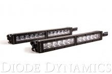 12 Inch LED Light Bar Single Row Straight Clear Driving Pair Stage Series Diode Dynamics