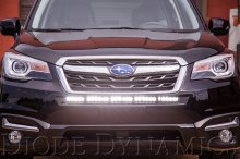 30 Inch LED Light Bar Single Row Straight Amber Combo Each Stage Series Diode Dynamics