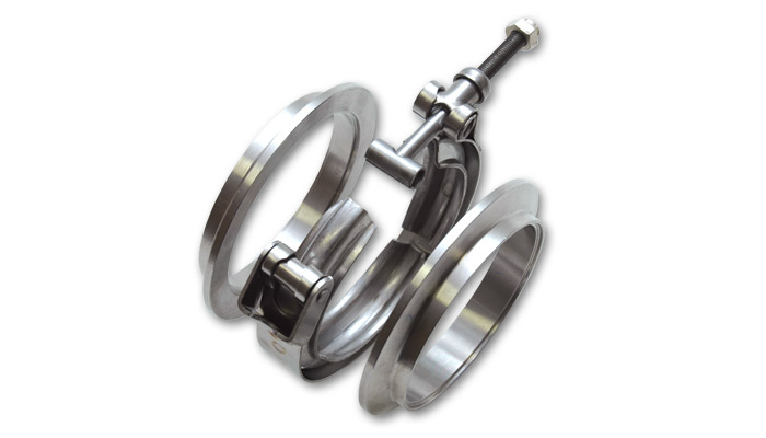"Aluminum V-Band Flange Assembly for 4"" O.D. Tubing - Click Image to Close"