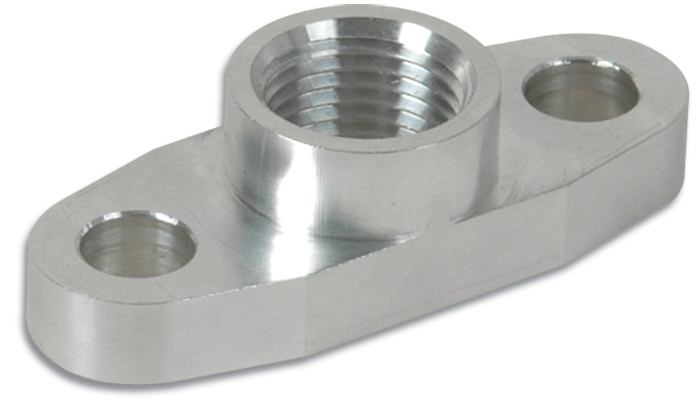 "Aluminum Oil Flange for GT32-GT55R (Tapped - 1/2"" NPT) - Click Image to Close"