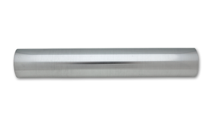 "4"" O.D. Aluminum Straight Tubing, 18"" Long - Polished - Click Image to Close"